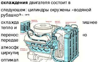 Схема системы охлаждения двигателя. принцип дейстивя и устройство системы охлаждения двигателя