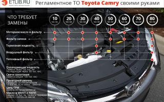 Техническое обслуживание (то) toyota camry v40. полный регламент то 1, то 2, то 3