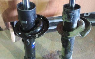 Инструкция по замене переднего амортизатора мазда демио своими руками