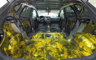 Материал для шумоизоляции авто .шумоизоляция автомобиля: 4 основных принципа достижения тишины в салоне