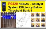 P0420 код ошибки низкой производительности катализатора bank 1 или p0430 catalyst system efficiency below threshold bank 2 — причины и устранение