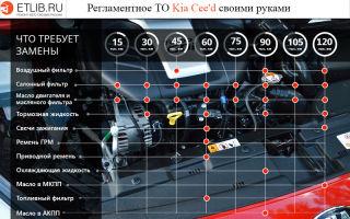 Техническое обслуживание (то) kia ceed. полный регламент то 1, то 2, то 3