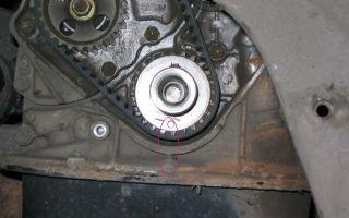 Замена ремня грм  на двигателе 4s-fe. как установить метки и поменять ремень грм на 4s-fe тойота