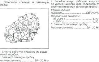 Инструкция по замене масла в раздаточной коробке хендай старекс (н-1).