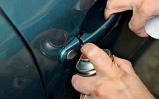 Чем смазать замки дверей автомобиля — 5 лучших средств