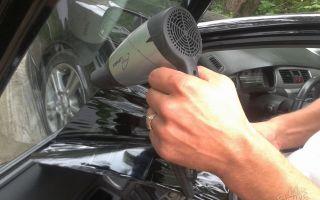 3 способа снятия тонировочных пленок со стекла автомобиля